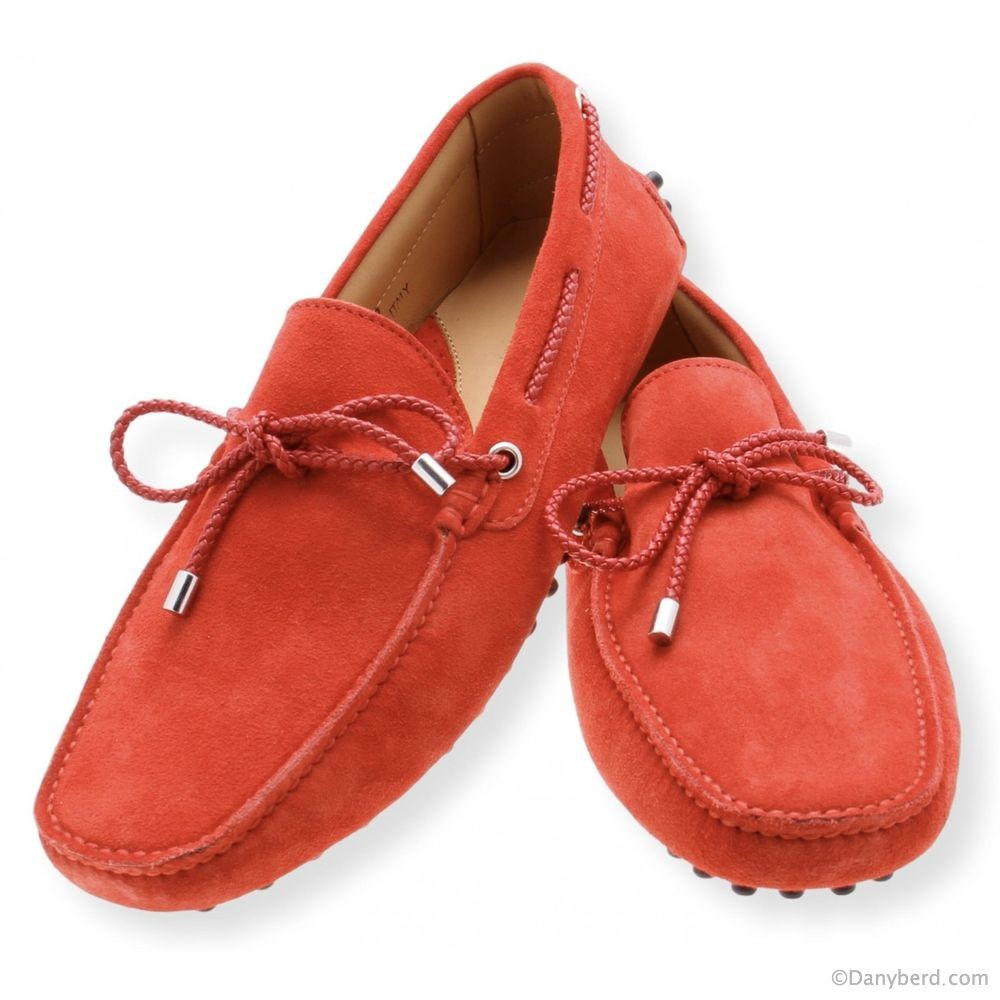 Mocassins Rouge - Veau Velours (Shoes