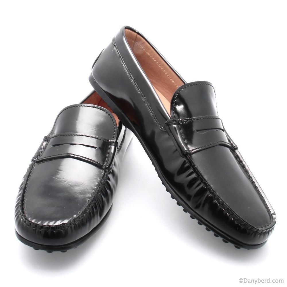Mocassins Noirs - Cuir Verni (Shoes)