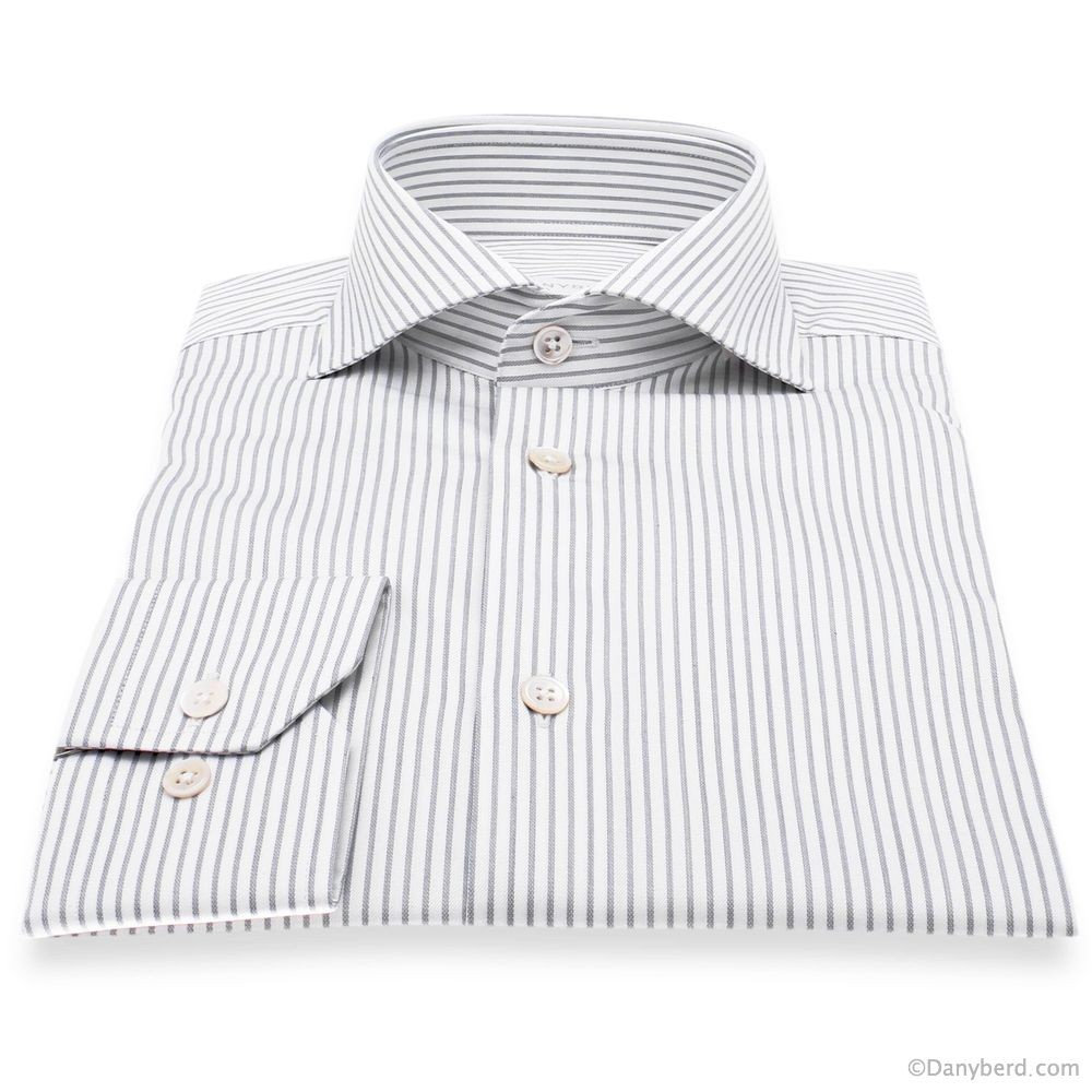 Chemise Reims : Rayures - Slim-cut - Col Italien (Shirts