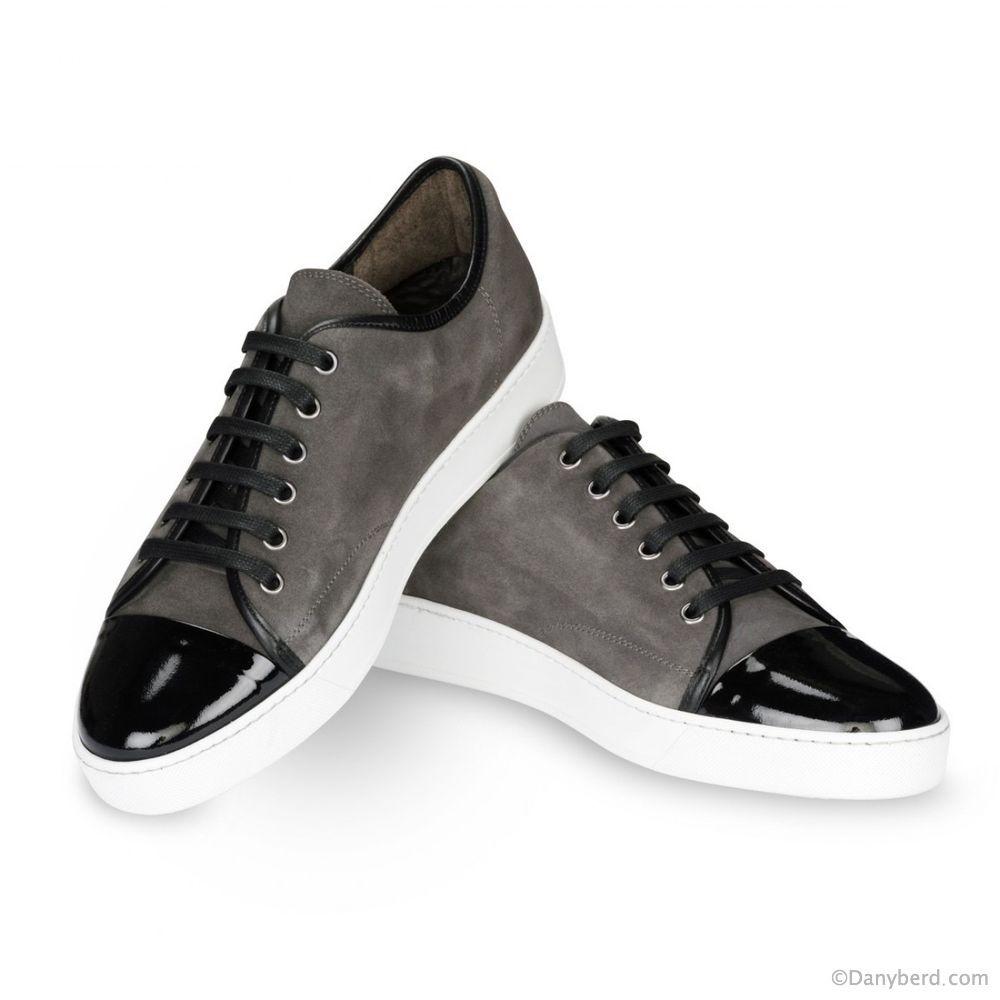 sneakers grises veau velours