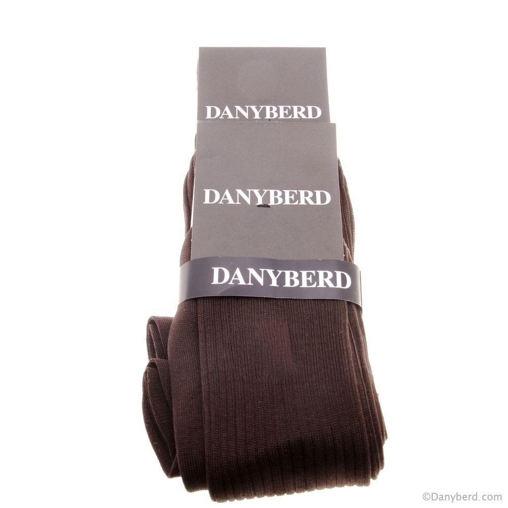 Chaussettes marrons lisses - 100% Fils d'Ecosse - Lot de 2 paires (Chaussettes
