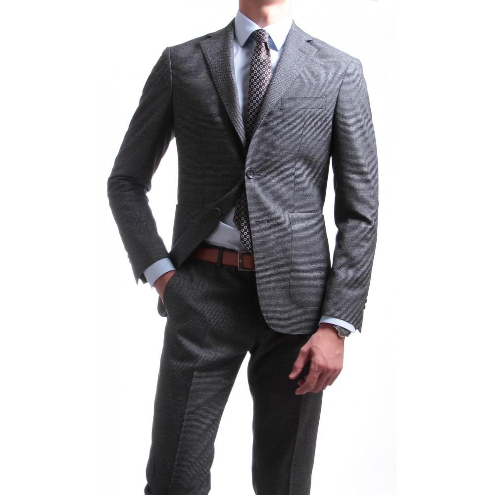 Costume : Gris - Pure laine - Canonico 130's