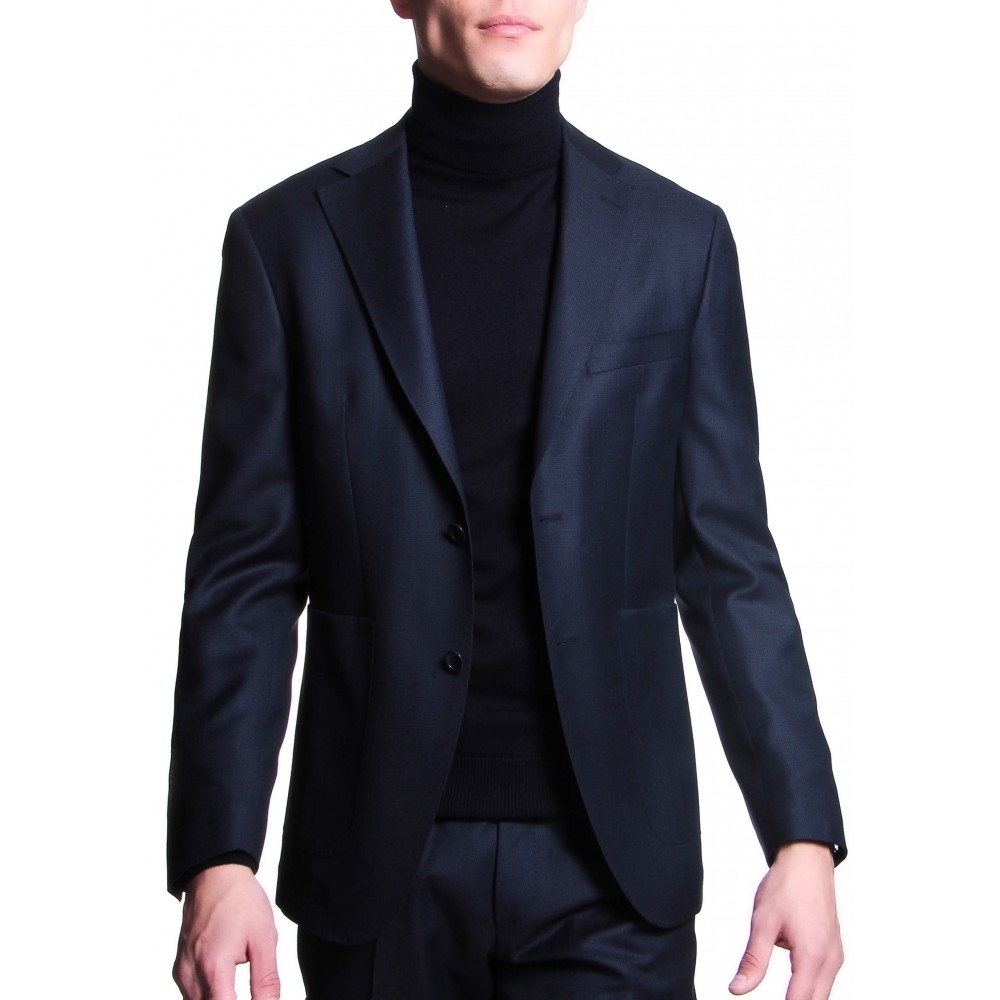 Costume :  Bleu - Caviar de laine - Tissu Zegna Traveller 130's