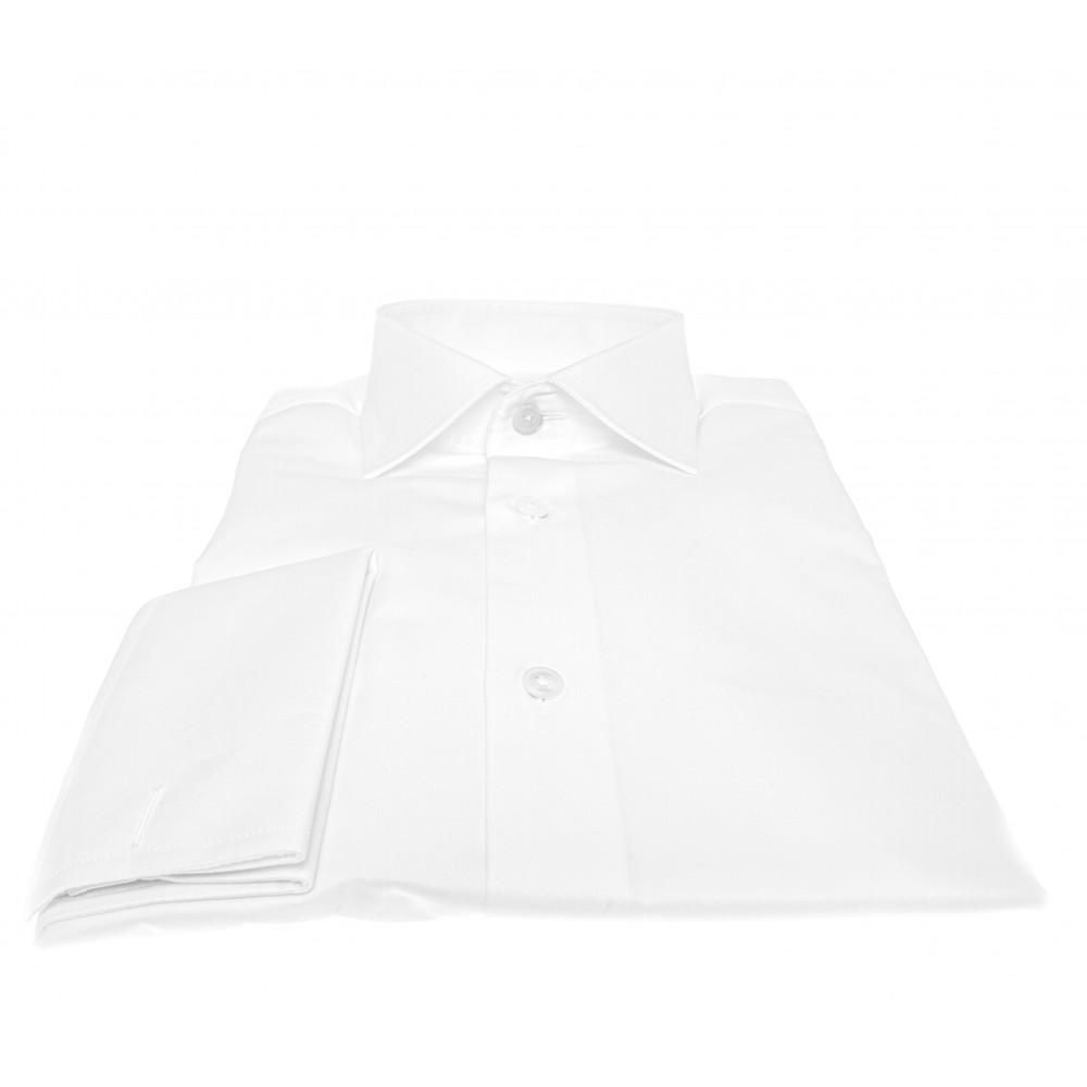 Chemise Lissandro P. Mousquetaire : Blanc - Col français - 100% Coton