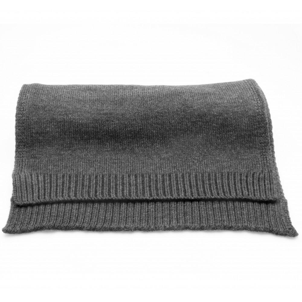 Echarpe Anthracite - Pure laine Merinos
