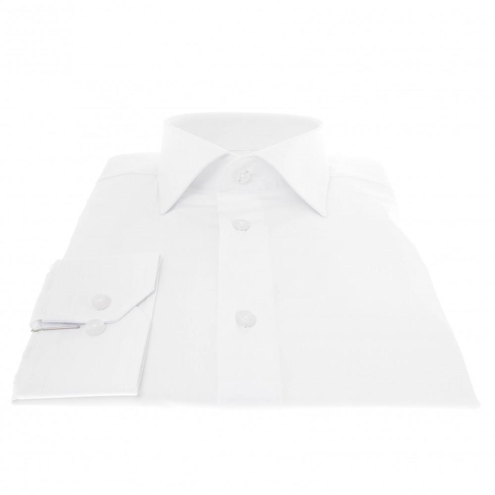 Chemise Roomy : Blanc - Col français (chemise)