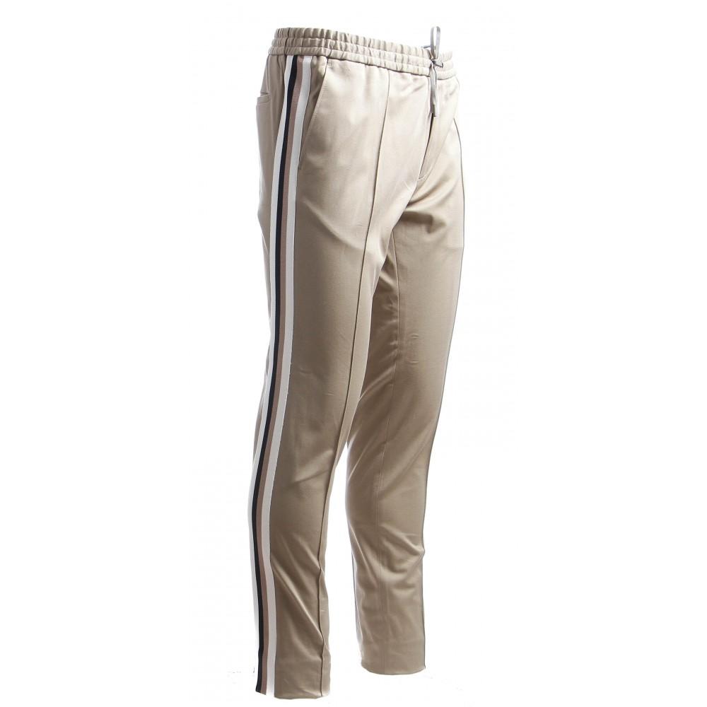 Jogging : Tilleul - Bande tricolore - Coton
