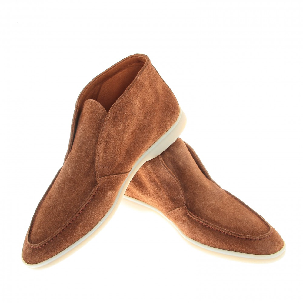 Boots italy : camel - veau velours