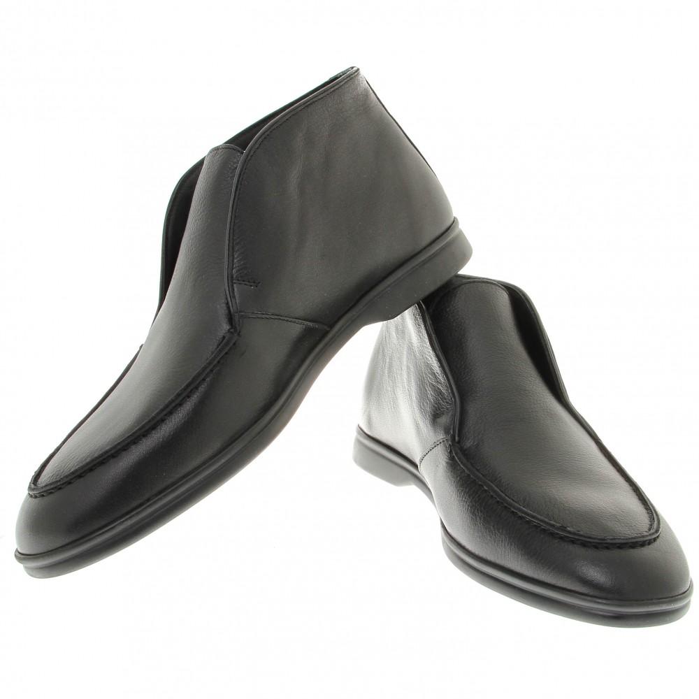 Boots italy : Noir - Cuir