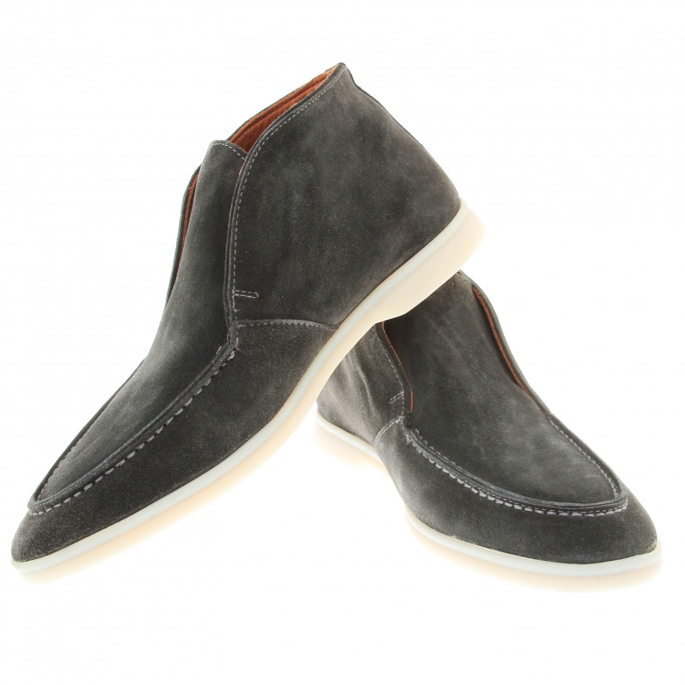 Boots italy : anthracite - veau velours