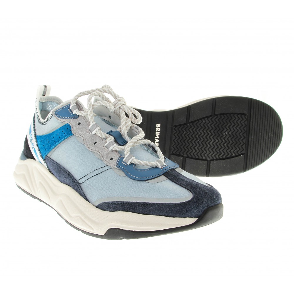 Sneakers BRTS x DNB : White blue. (Shoes)
