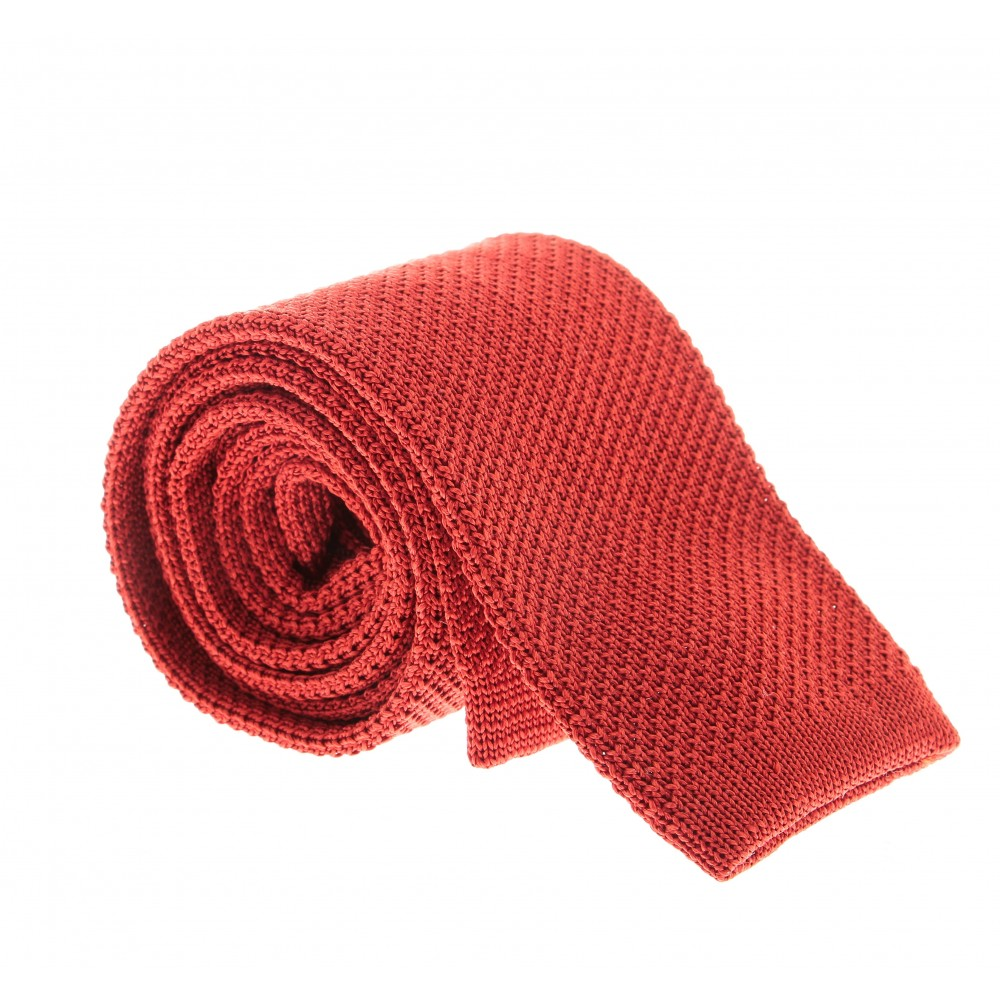 Cravate Tricot : Corail