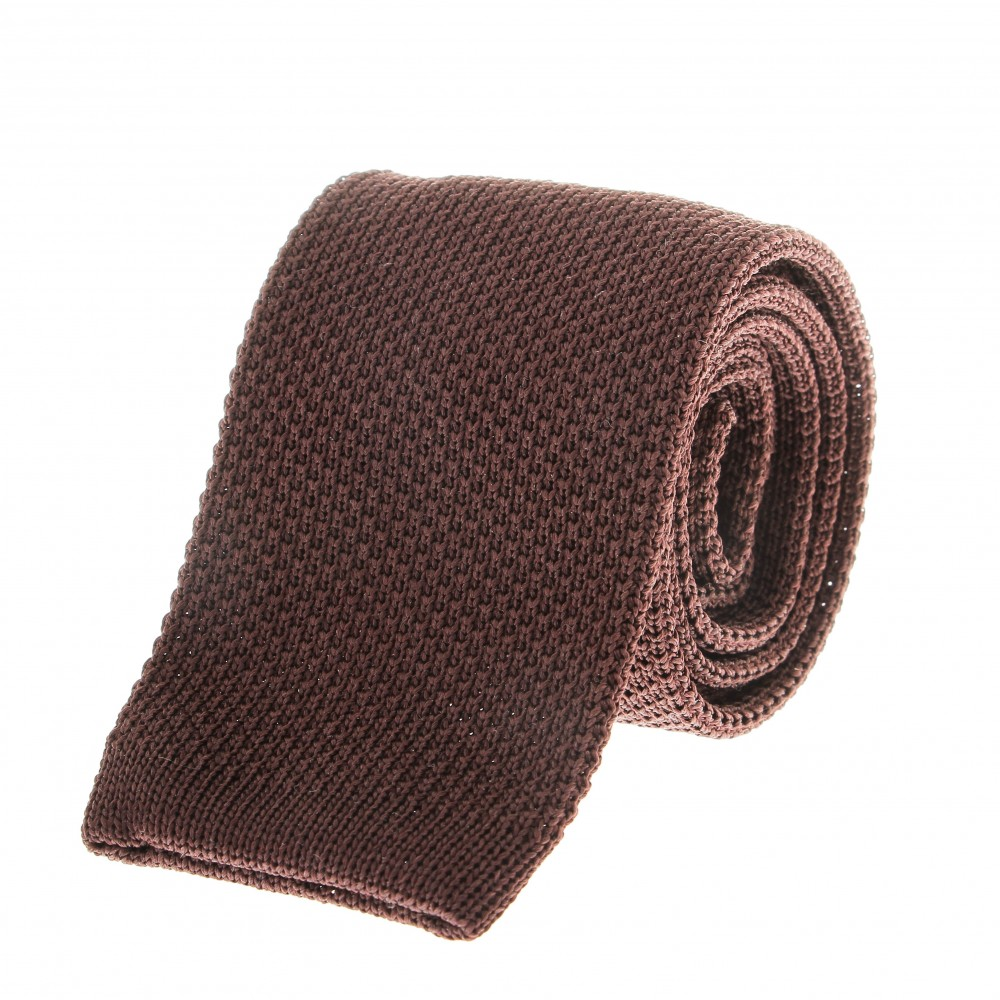 Cravate Tricot : Marron