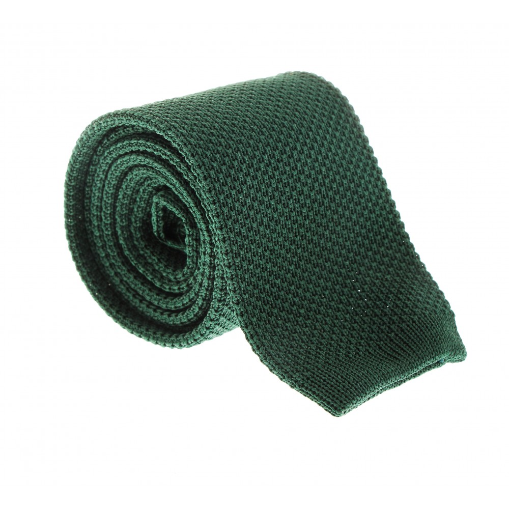 Cravate Tricot : Vert sapin