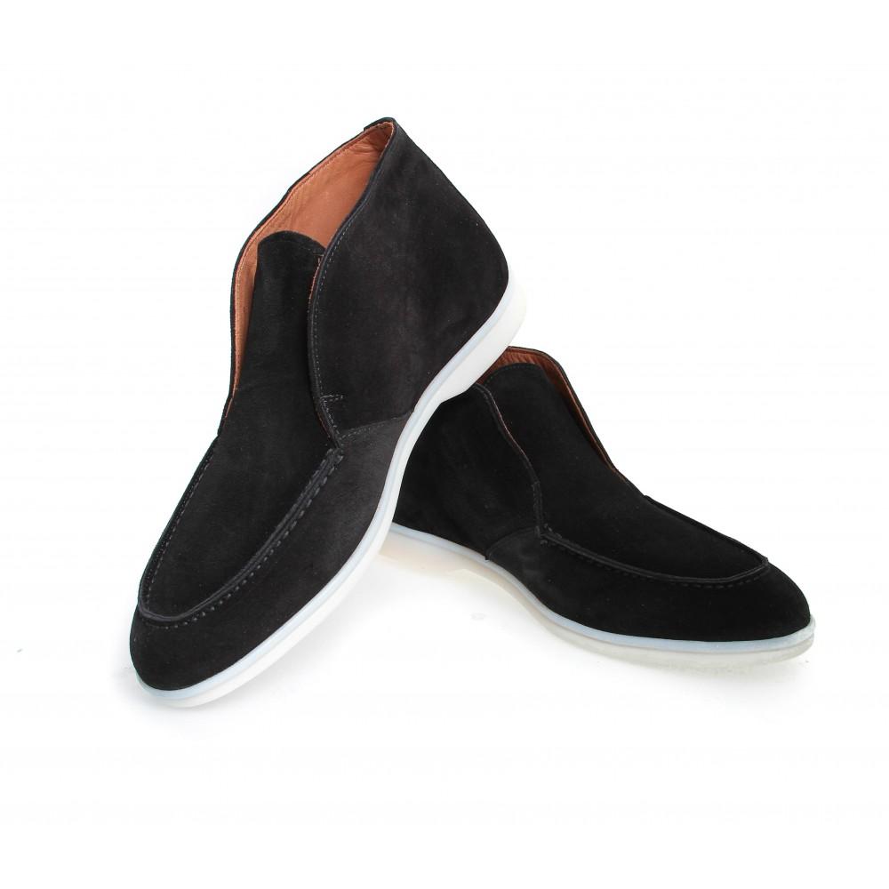 Boots italy : noir - veau velours