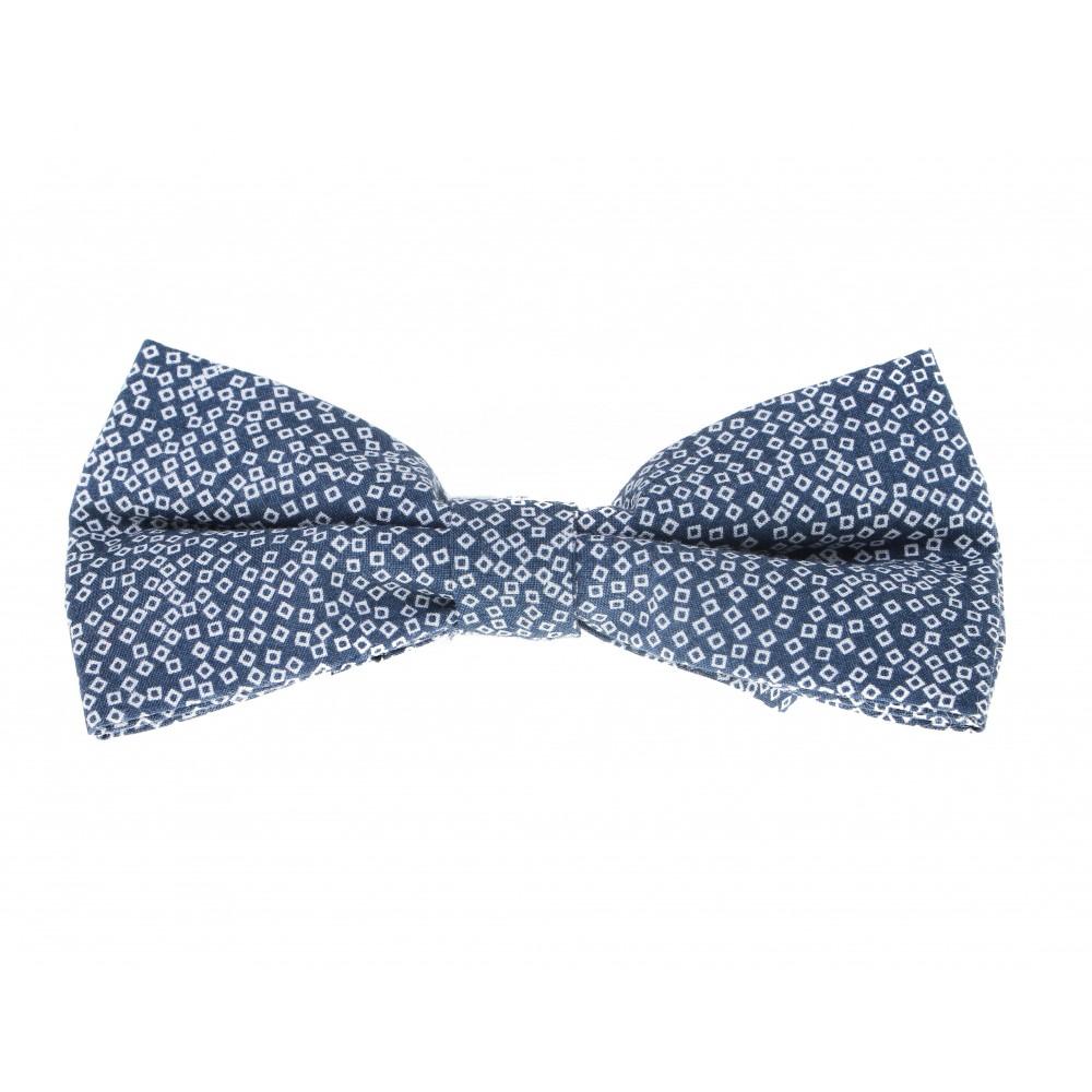 Nœud Papillon : Bleu - Carré blanc