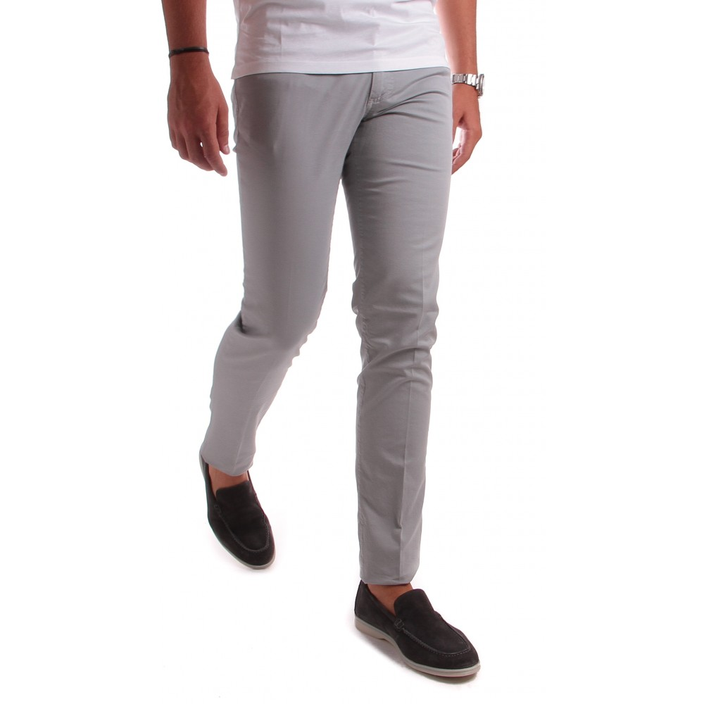 Jean Cristy : gris - coton stretch - made in italy
