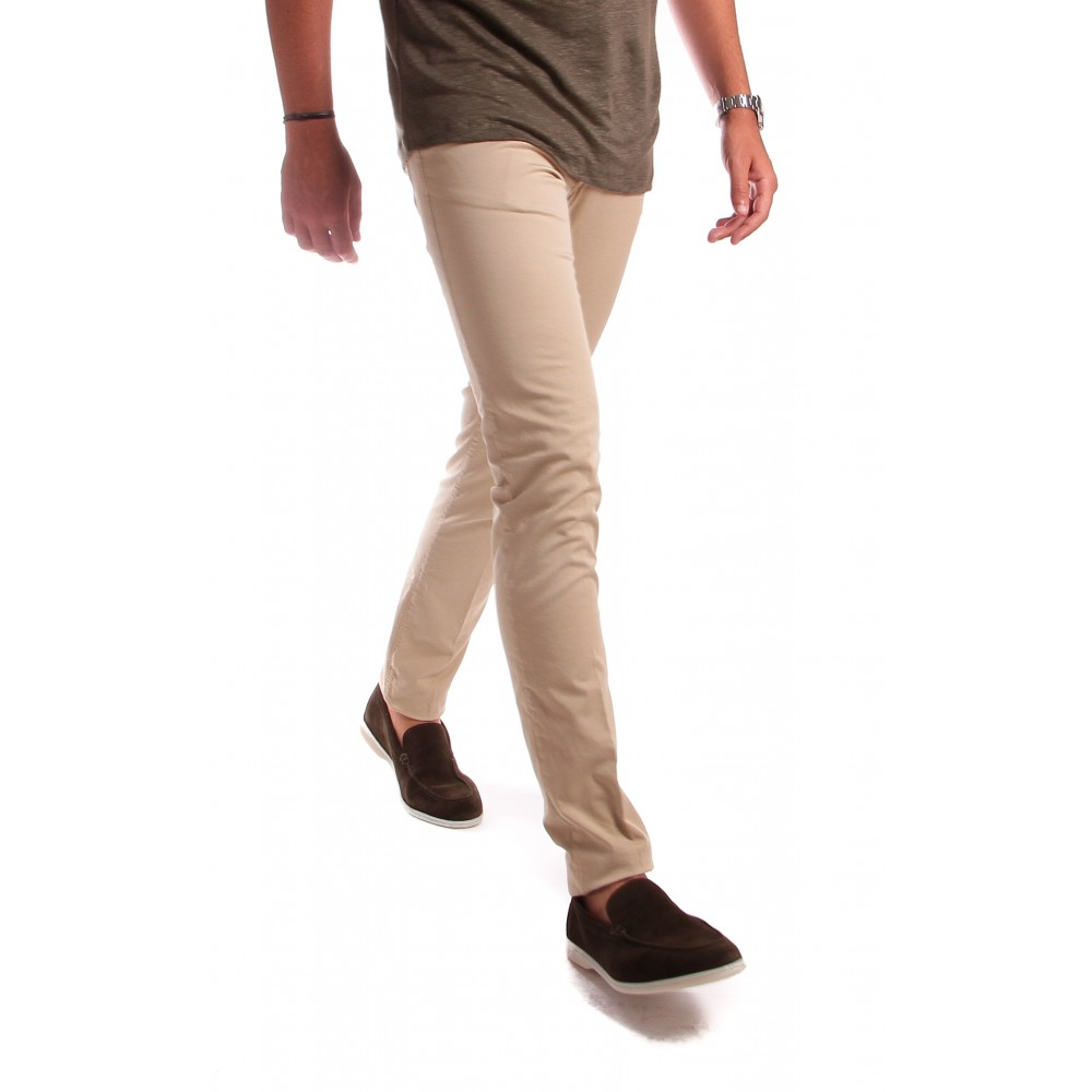 Jean Cristy : beige - coton stretch - made in italy
