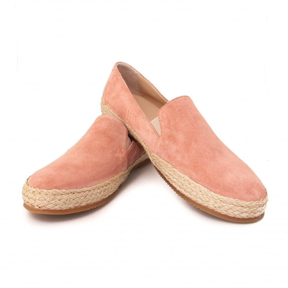 Espadrilles :  Rose - veau velours - made in italy
