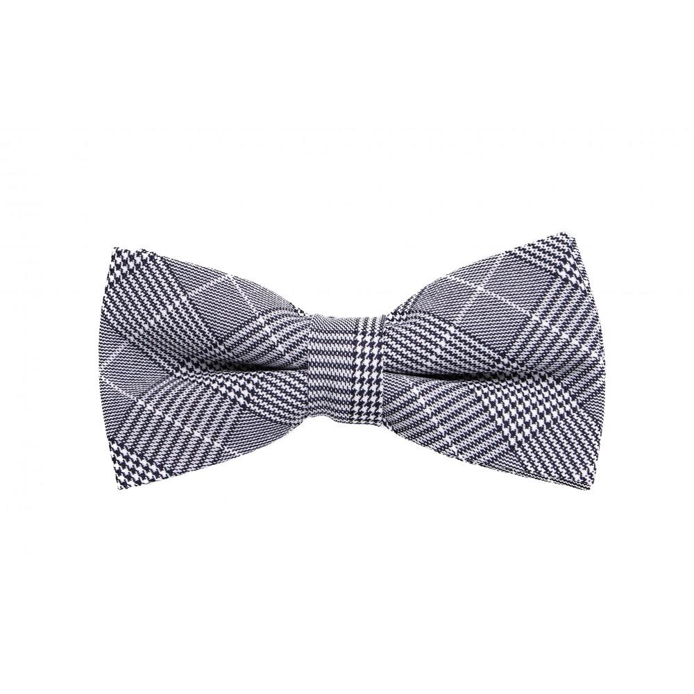 Nœud Papillon : Prince de Galles - Bleu marine et blanc