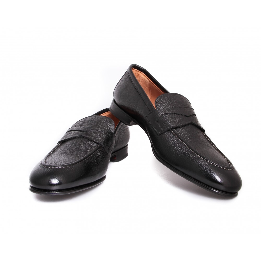 Mocassins : Noir - Cuir - Made in Italy
