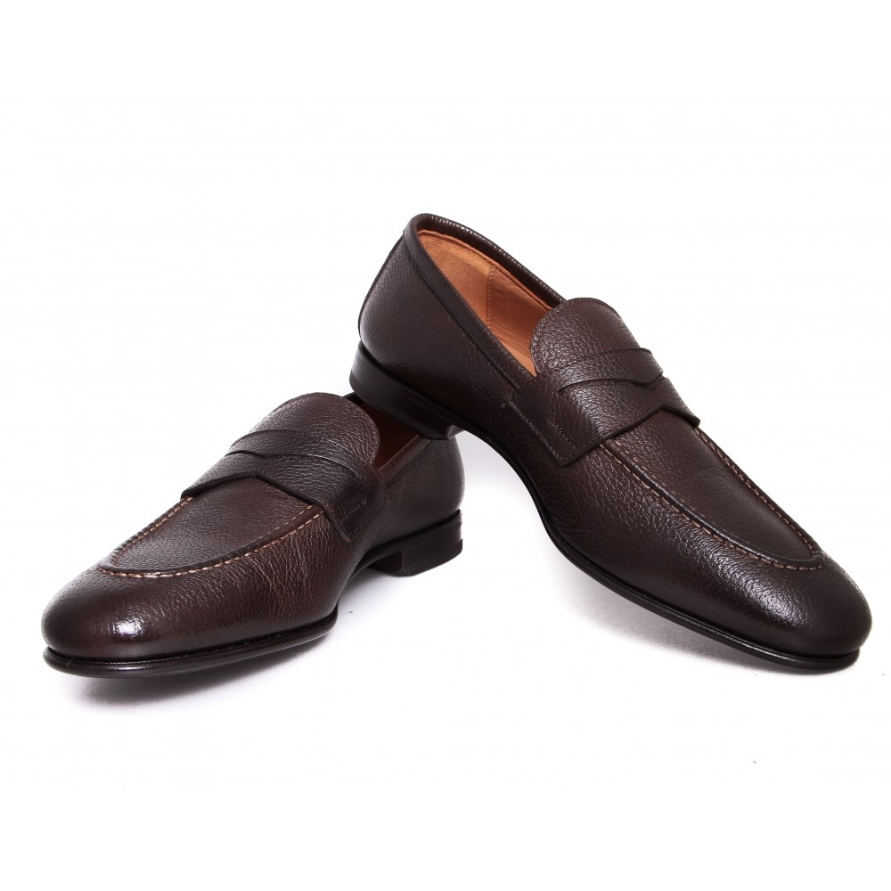Mocassins : Marron - Cuir - Made in Italy