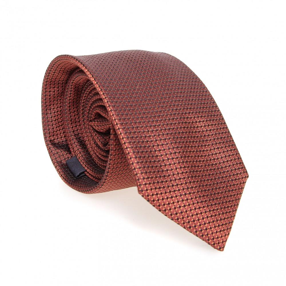 Cravate en soie : Marron-orangé