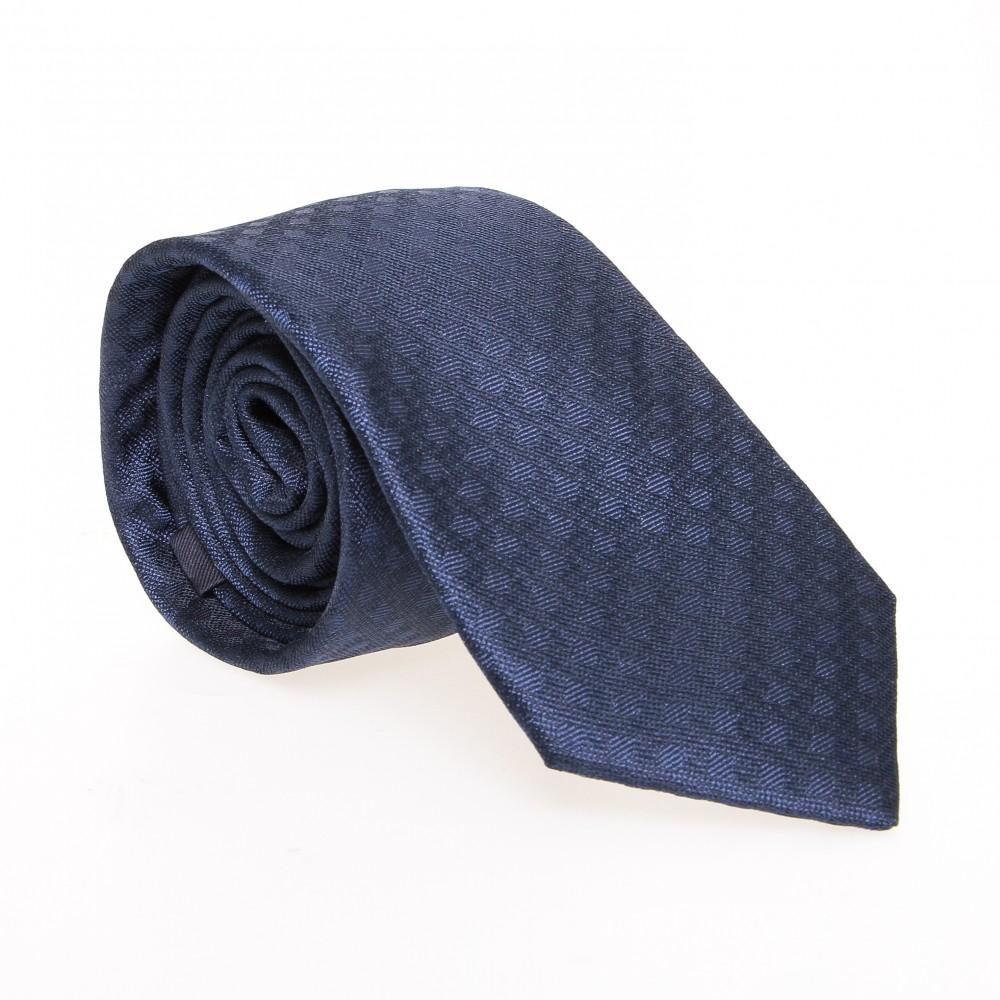 Cravate en soie : Bleu à pois en relief