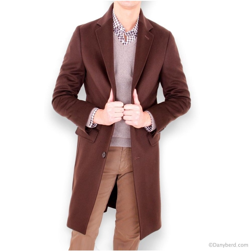 Manteau - Marron - Tissu Loro Piana (Manteau)