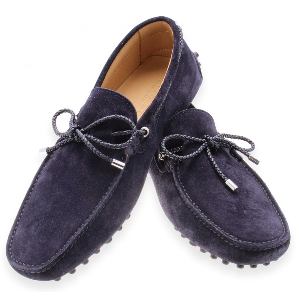 Mocassins Marine - Veau Velours (Shoes)