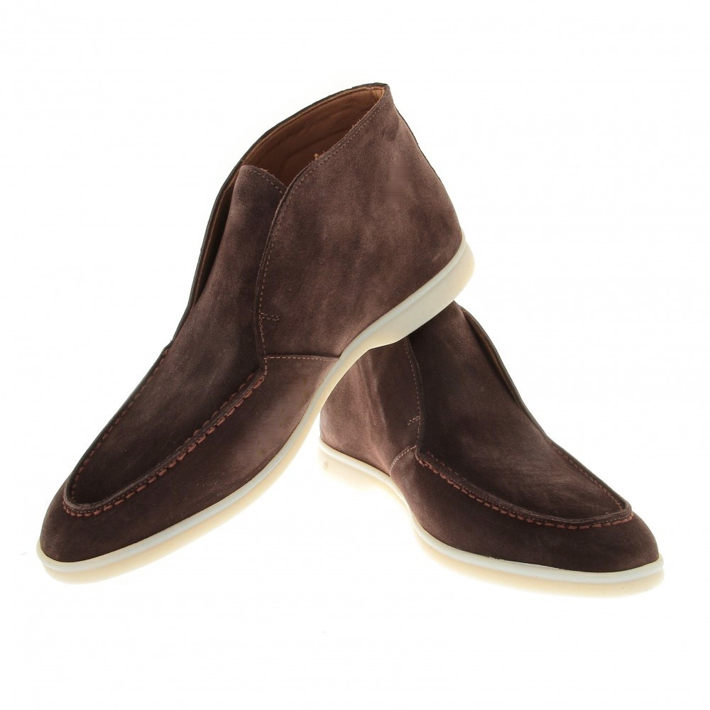 Boots italy : Marron - veau velours