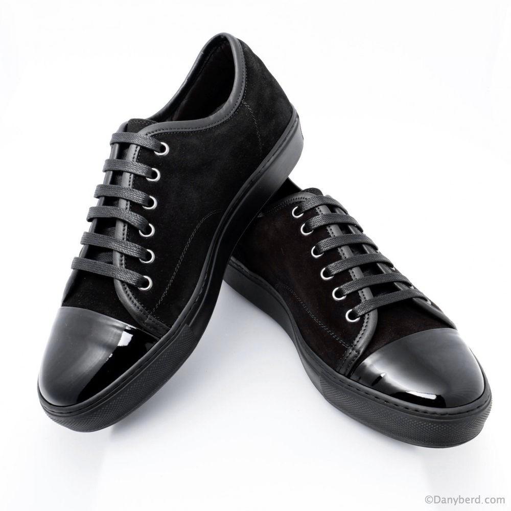 sneakers noires veau veloursr