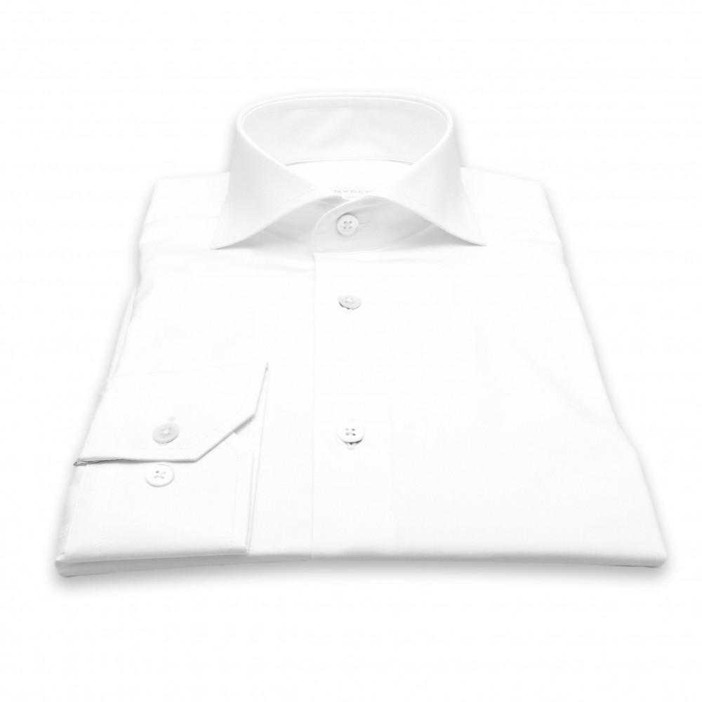 Chemise Cairo : Blanche - Slim-Cut - Col Français (chemise)