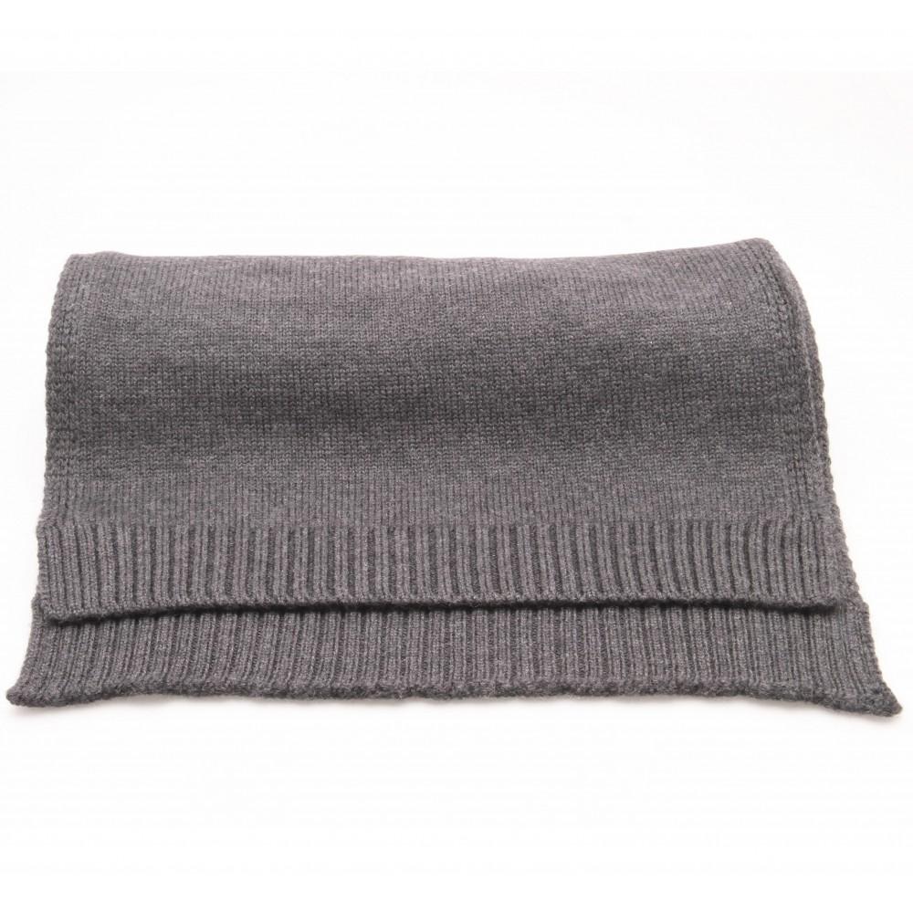Echarpe grise - Pure laine Merinos