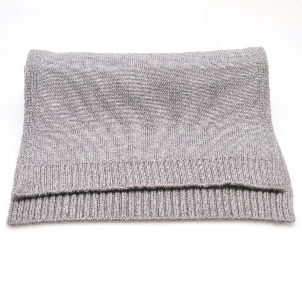 Echarpe grise - Pure laine de Merinos