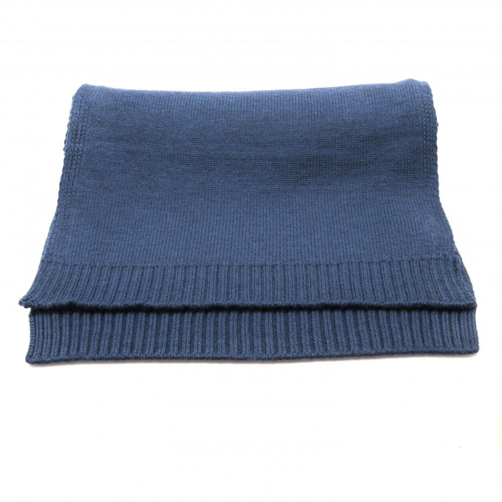 Echarpe bleue - Pure laine de Merinos (Écharpes)