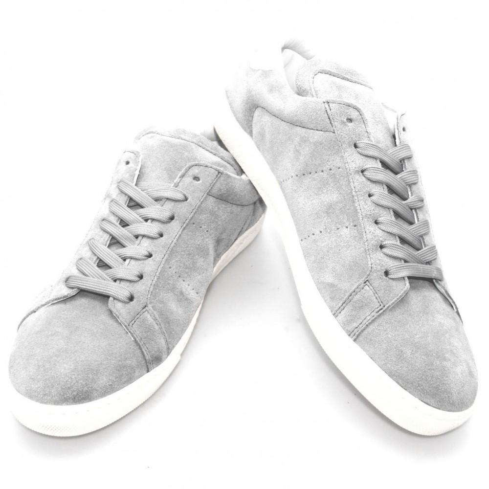 Sneakers Tokyo : Grises - Veau Velours (Shoes)