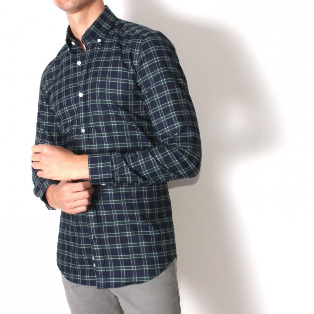 Chemise Winter Vermont : carreaux vert marine (chemise)