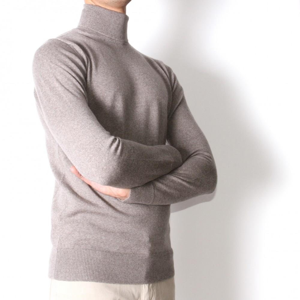 Pull Col roulé : beige - pure laine (pulls)