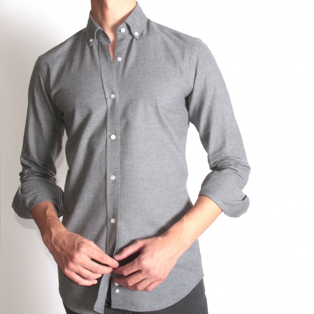 Chemise Winter Vermont : gris moyen (chemise)