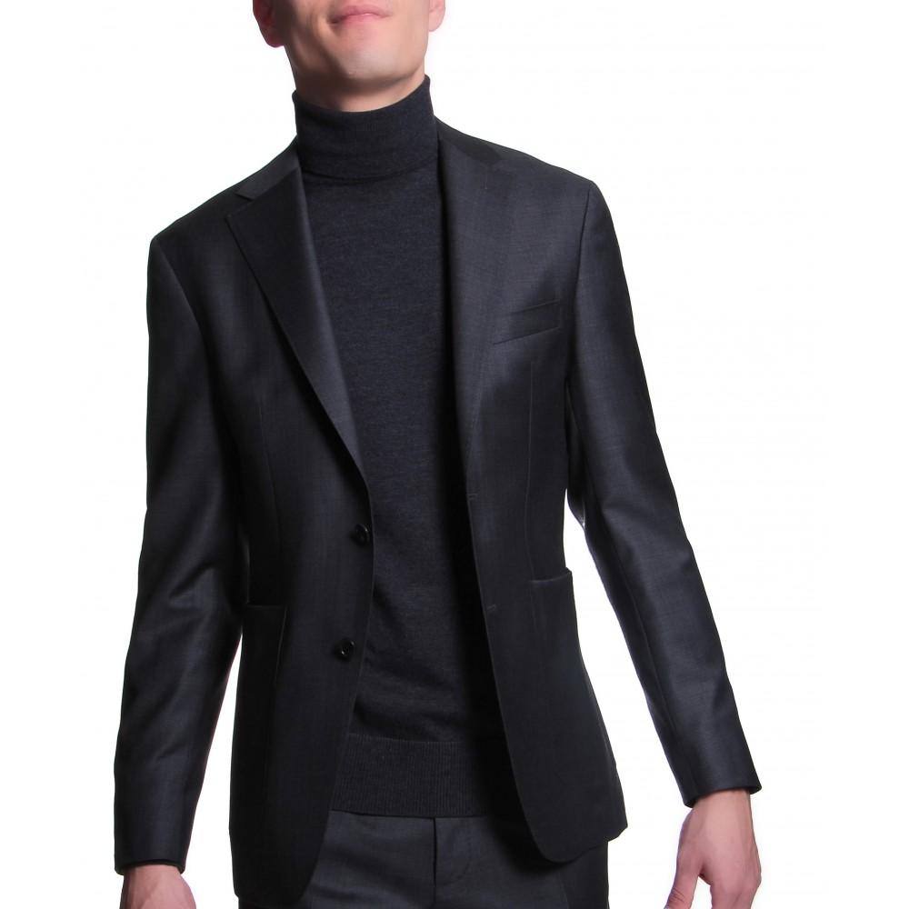 Costume :  Anthracite - Laine - Tissu Zegna Traveller 130's