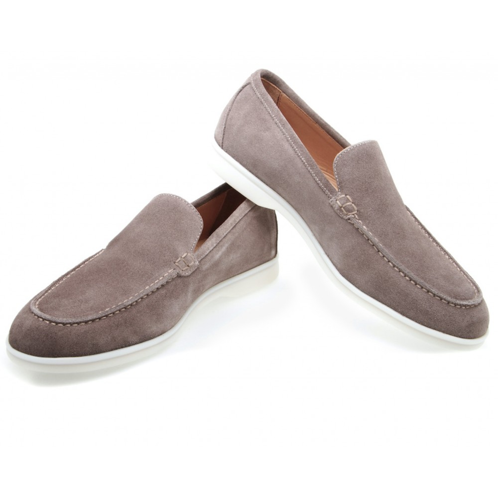 Mocassins homme taupe