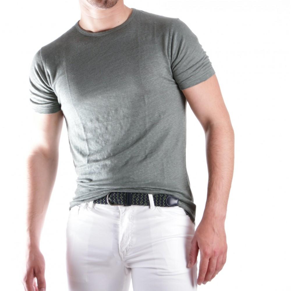 Tee-shirt en lin vert amande