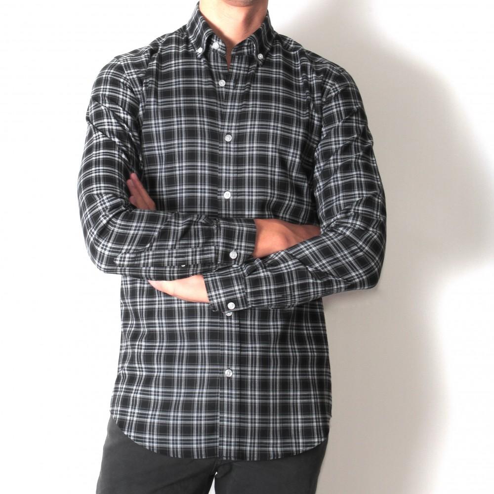 Chemise Winter Vermont : Noire carr blanc (chemise)
