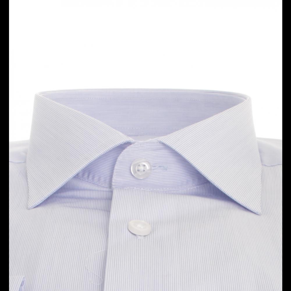Chemise fines rayures bleu ciel