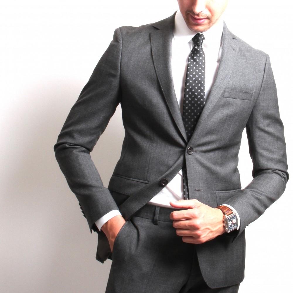 Costume Anthracite - Slim-Fit - Prince de Galles - Canonico 110's (Suits)