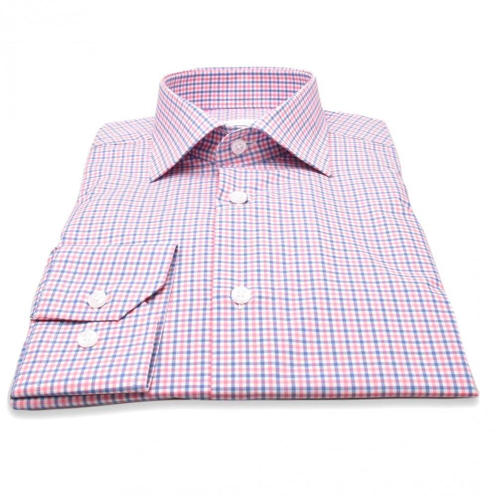 Chemise Alysée : Carreaux roses et bleus (chemise)