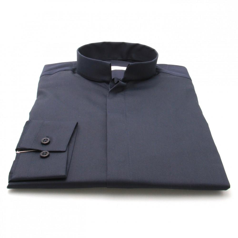 Chemise Roomy : Marine - Col Inversé (chemise)