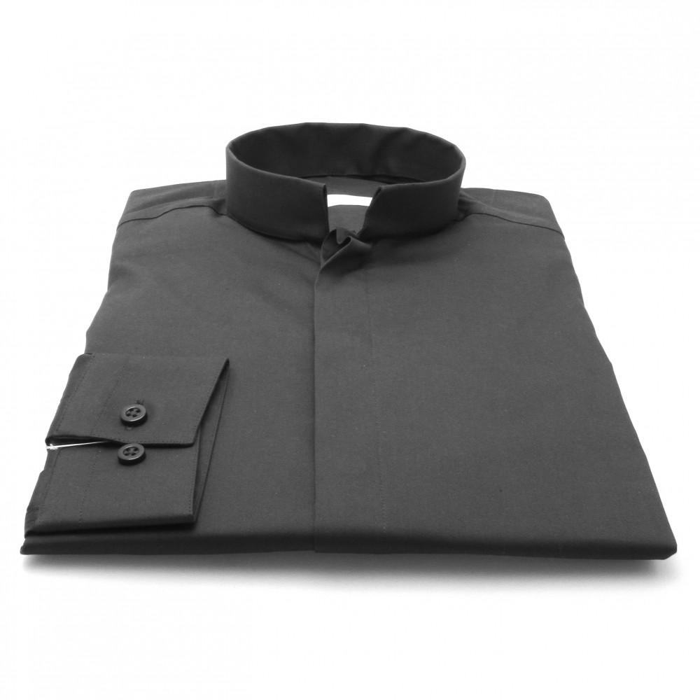 Chemise Roomy : noir - Col Inversé (chemise)