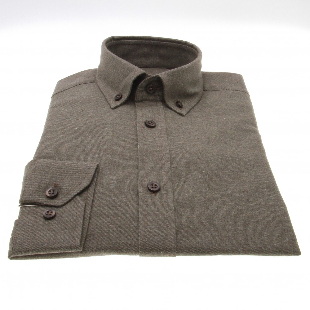 Chemise Winter Vermont : olive - flanelle